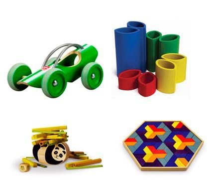 Leksaker av miljövänlig bambu