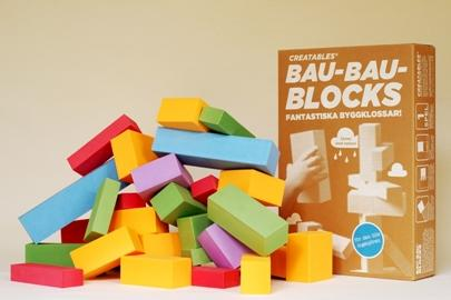Bau-bau blocks, klossar av återvunnet material