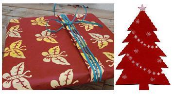 Presentinslagning av julklappar