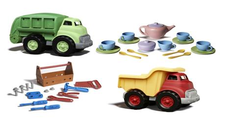 Plastleksaker av återvunnen plast