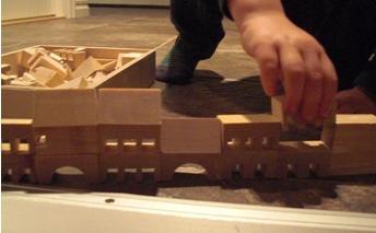 Klossar stad & slott, träklossar för barn