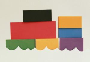 Bau-bau-blocks, klossar av återvunnet material
