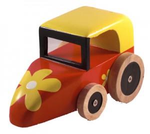 Leksaksbil av miljövänligt trä