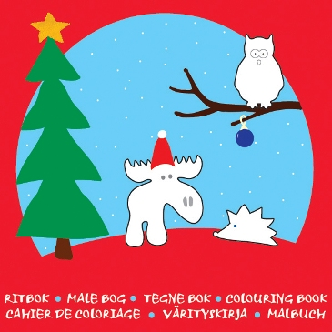 Målarbok jul