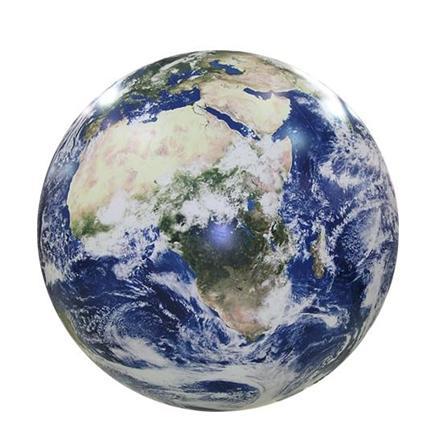 Badboll i form av jordglob