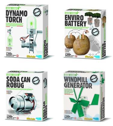 Gröna experimentkit för barn