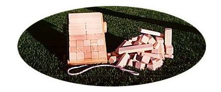 Klossvagn, träleksak från Ekokul, handtillverkad
