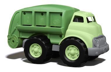 Återvinningsbil - en leksaksbil av återvunnen plast
