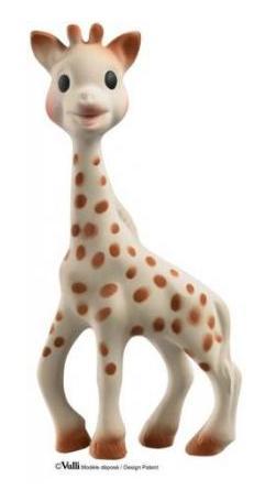 Sophie giraff, babyleksak av naturgummi