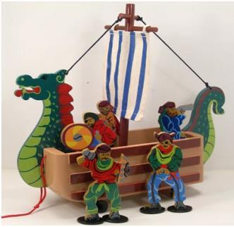 Vikingaskepp, en träleksak från Ekokul