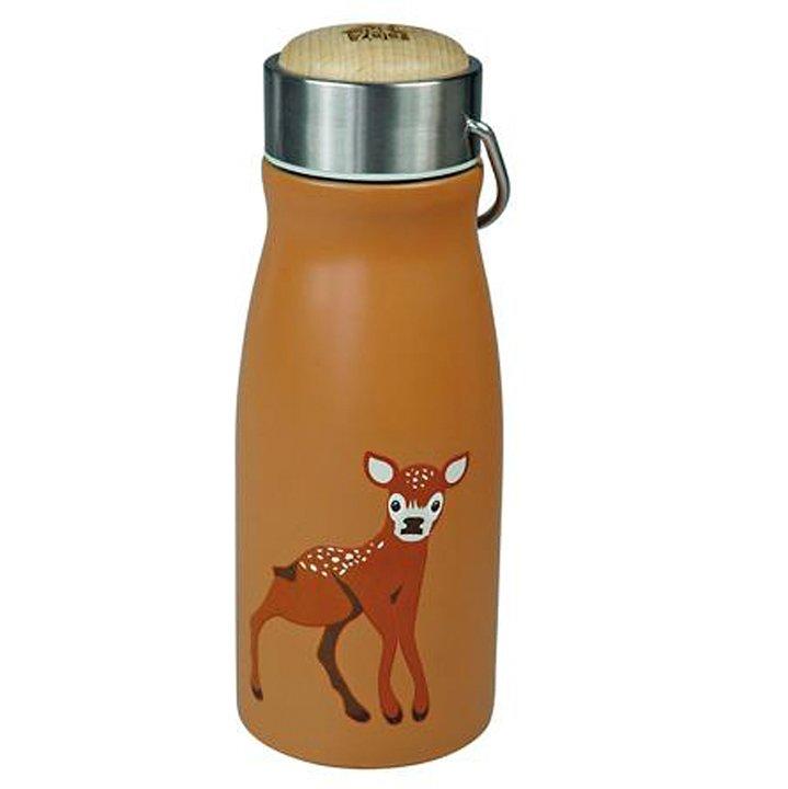 Rostfri flaska för barn med rådjur på