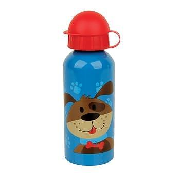 Vattenflaska av stål för barn med hund på