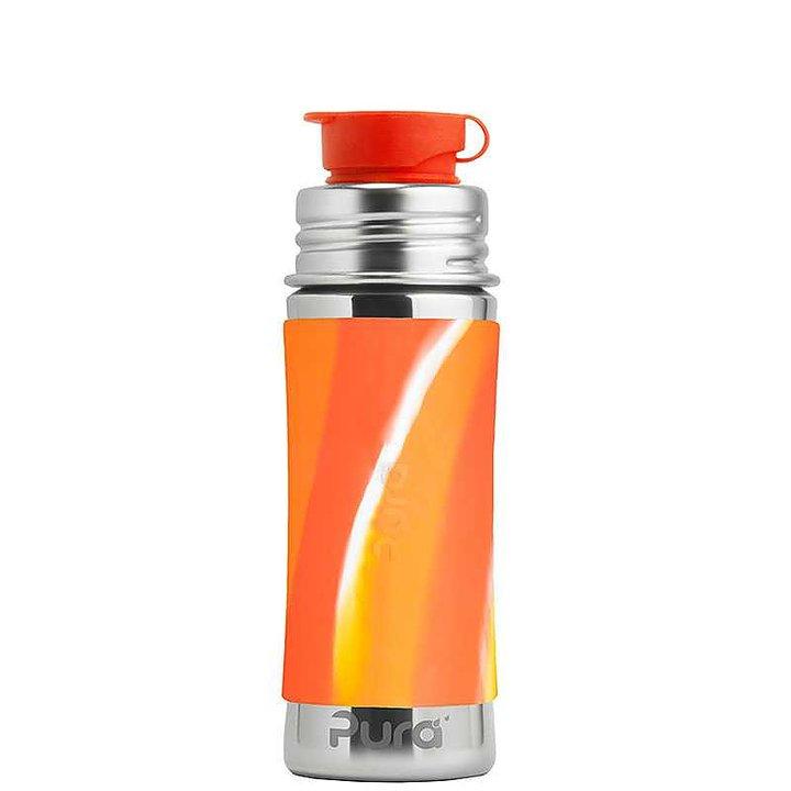 Plastfri vattenflaska för barn, orange