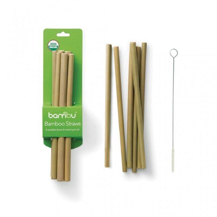 Bambusugrör och sugrörsborste