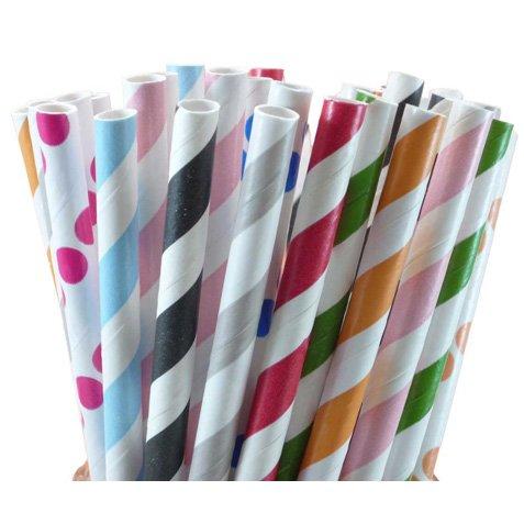 Papperssugrör i olika färger