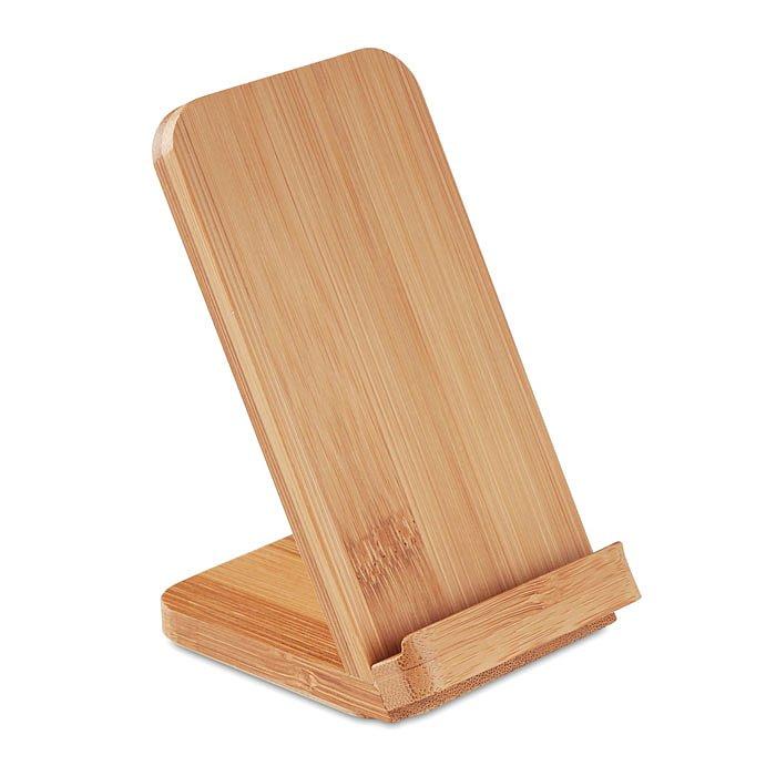 Laddarställ för mobiltelefon i bambu