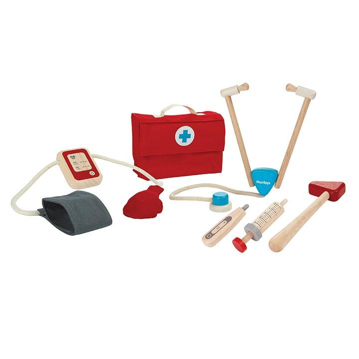 Doktorsväska av trö - leksak för barn