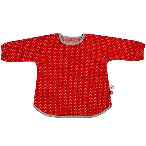Rött barnförkläde