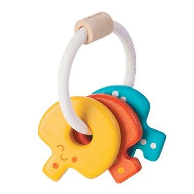Nyckelknippa av trä - aktivitetsleksak för baby