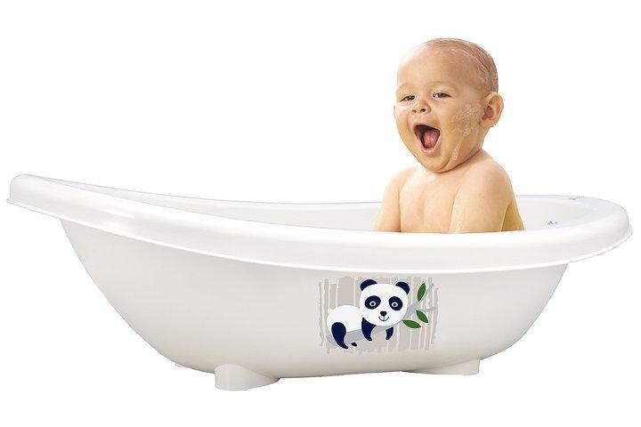 badbalja av naturmaterial för babyn
