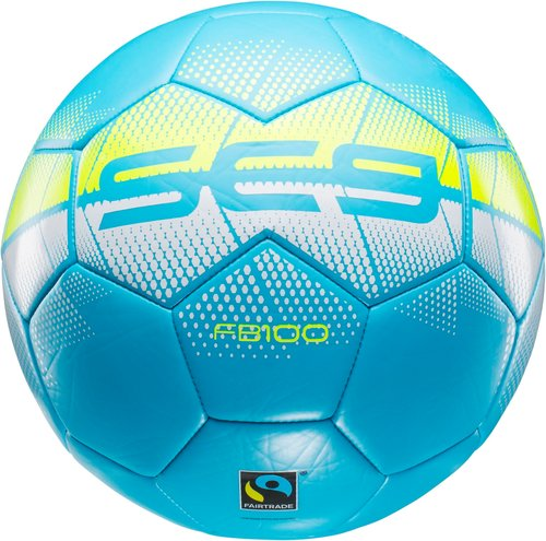 Blå fair trade fotboll