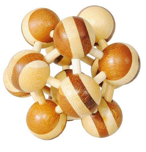 3D-pussel atom av trä