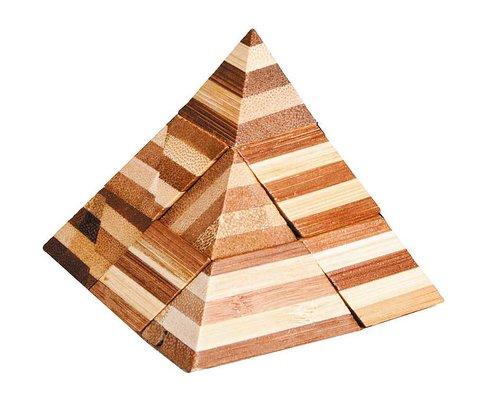 3D-pussel av bambu pyramid